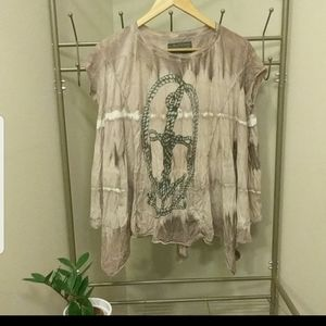 Grunge dye all saints flowy top
